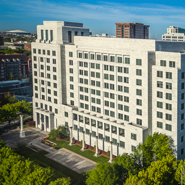 Atlanta Fed building exterior--bird's eye view