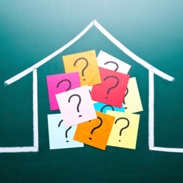 house enclosing question marks