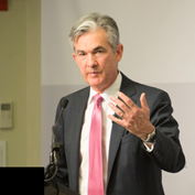 Photo of Jerome Powell speaking
