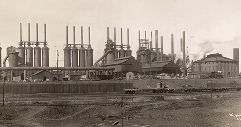 The Ensley Works operated between 1888 and 1976 and became part of U.S. Steel in 1907. For years, it was the largest steel producer in the Southeast. Photo courtesy of the Library of Congress Photographic Archives
