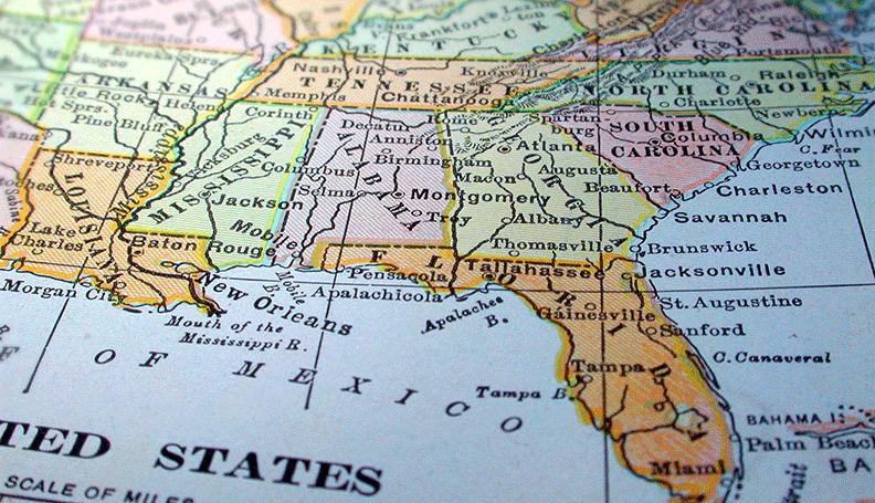 Southeastern Usa Map Map Usa Map Images - Southeastern us map
