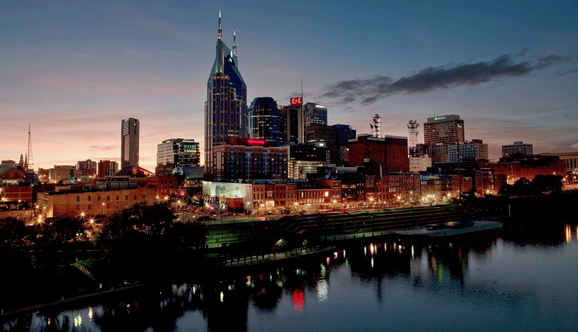 Downtown Nashville. Photo by Carol Highsmith and courtesy of the Library of Congress photographic archives