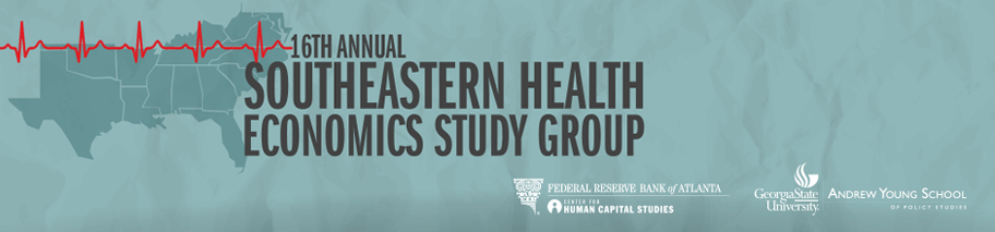 Banner image for the 16th Annual Southeastern Health Economics Study Group