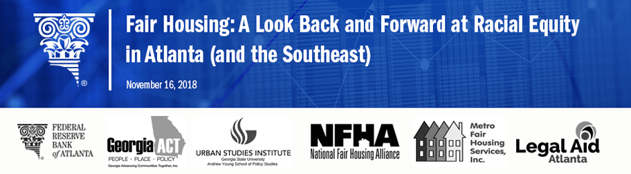 Banner image for Fair Housing: A Look Back and Forward at Racial Equity in Atlanta (and the Southeast)