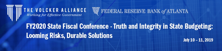 Banner for FY2020 State Fiscal Conference - July 10-11, 2019