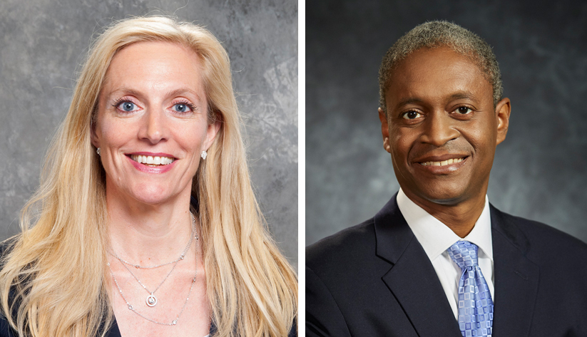 Photos of Lael Brainard and Raphael Bostic