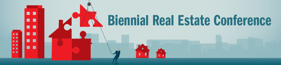 Banner for Biennial Real Estate Conference