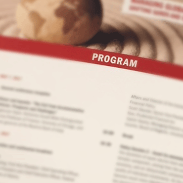Photo of a conference program