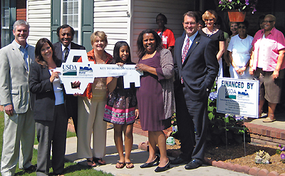 photo of people particpating in USDA homeownership program