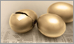 Image of golden eggs representing hedge funds