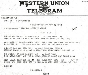 Atlanta Fed Telegram