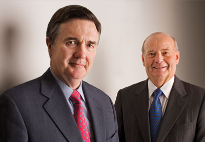 Photo of Dennis P. Lockhart and Patrick K. Barron