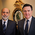 Fed Chairman Ben Bernanke and Atlanta Fed Chairman Dennis Lockhart