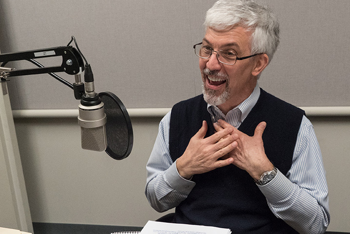 Research Center Executive Director, Center for Financial Innovation and Stability Larry Wall at the recording of a podcast episode