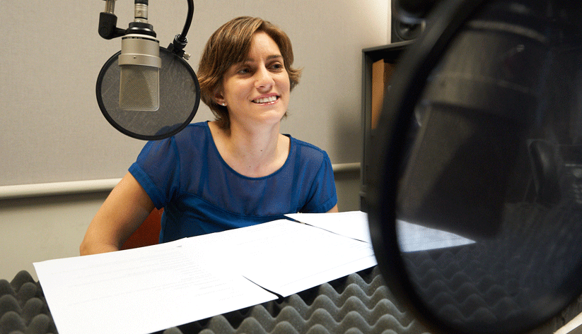 Ellie Terry at the recording of this podcast episode