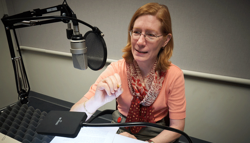 Julie Hotchkiss at the recording of this podcast episode