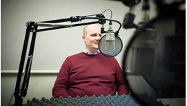 Stuart Andreason, Director, Center for Workforce and Economic Opportunity at the Atlanta Fed, at the recording of a podcast episode.