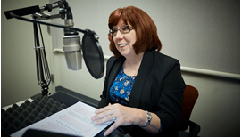 Amy S. Goodman, Vice President and Cash Function Director, at the recording of a podcast episode.