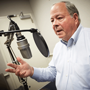 David Lott, a Payments Risk Expert in the Retail Payments Risk Forum at the Atlanta Fed, during the recording of a podcast episode.