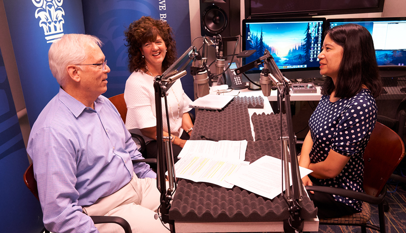 Jennifer Duprow, Mike Johnson, Lali Shaffer, all of the Atlanta Fed's Supervision, Regulation, and Credit divion of the Atlanta Fed, during the recording of a podcast episode.