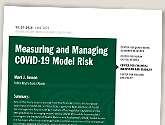 cover image for Measuring and Managing COVID-19 Model Risk