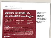 cover image for Evaluating the Benefits of a Streamlined Refinance Program