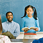 Photo of a teacher with student