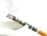 Image of a money cigarette