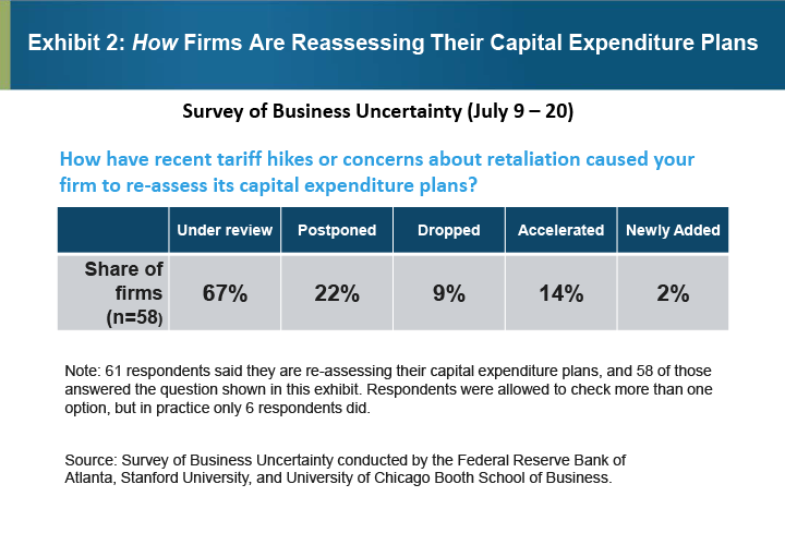Exhibit 2: How Firms are Reassessing their Capital Expenditure Plans